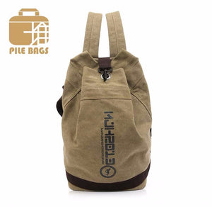 Back Pack Men Unisex Canvas Backpack Vintage School Bag 4 Color Choices