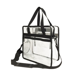 Custom sports stadium approved bag Transparent Clear PVC Plastic Makeup Tote