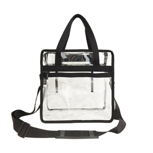 Custom NFL stadium approved bag Transparent Clear PVC Plastic Makeup Tote