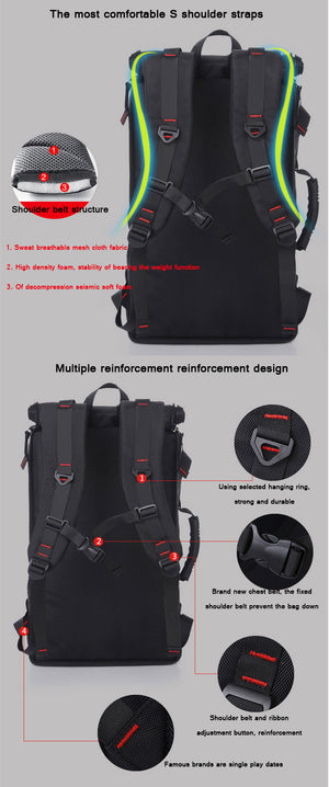 Men's Backpack Computer Bag Large Capacity Wear- Resistant. 3 Color Choices