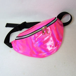 Laser Holographic Reflective chest waist bag fanny pack Banankat bag for women