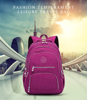 School Backpack for Teenage Girl Mochila Feminina Women Backpack Nylon Waterproo