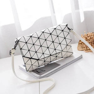 Women's geometric envelope handbag clutch ladies purse crossbody messenger