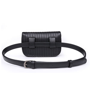 PU Leather Waist Bag Fanny Pack For Women Waist Bag Pouch Phone Bag. 2 Colors