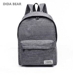 DIDA BEAR Canvas Men's Women's Backpack Large School Bag For Teenager Boys Girls