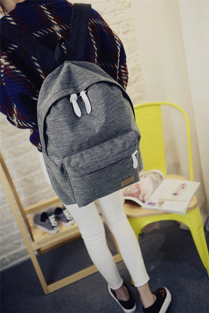 Women's Canvas Backpack Ladies Shoulder School Bag Rucksack For Girls. COLORS