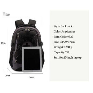"Unisex Travel Bags Laptop Backpack 15.6"" Multifunctional Schoolbag"