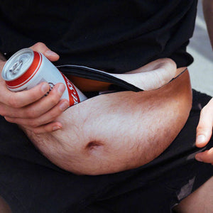 Novelty Men's Beer Belly Waist Bag Fanny Pack Travel Phone Organizer. 5 Bellys