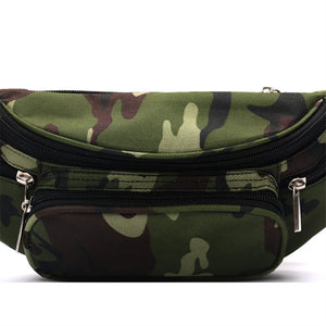 Camo Camouflage Bananka Waist Bag Travel Leisure Fanny Pack Men And Women