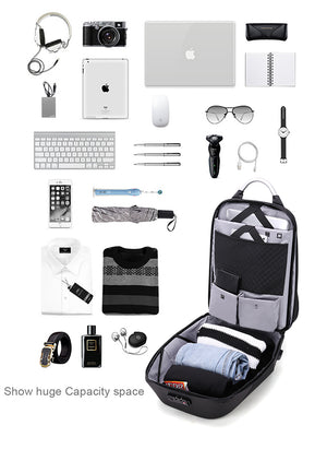 Men's Anti-theft 15.6 Laptop Backpacks Waterproof Backpack Male USB Charge