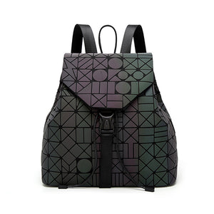 Women's Geometric Luminous Backpack Female Bag Teenage Girls Bagpack
