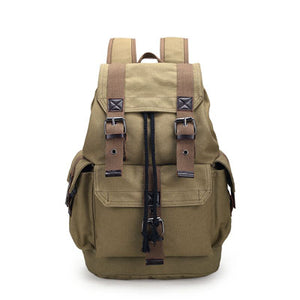 Men's vintage canvas backpack travel bags large capacity 3 colors