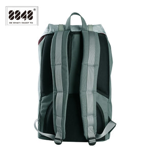 Men's Green Backpack Soft Handle Soft Back Unisex Backpack Large Capacity