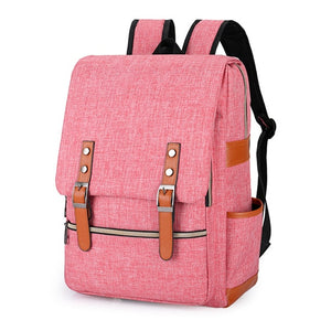 Vintage Men Women Canvas Backpacks For Teenage Girls School Bag