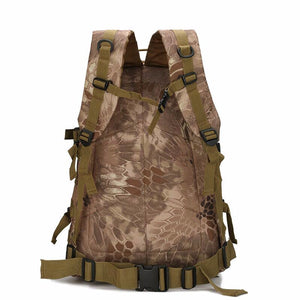 Camouflage Camo multi-function 40L boys men's backpack school bag