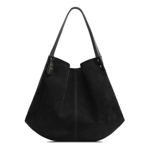 Nico Louise Women's Split Suede Leather Hobo Bag Designer Female Leisure Large S