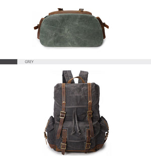 Men's Water Resistant Canvas Backpack  Travel Shoulder Bag. 3 Colors