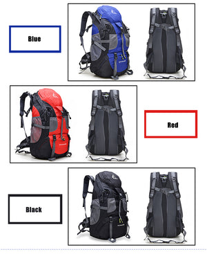 50L Outdoor Backpack Camping Bag Waterproof Mountain Hiking Multi Color Options