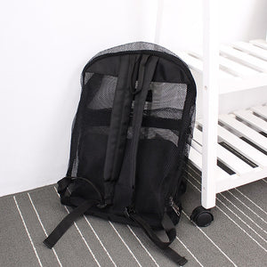 Transparent Mesh Backpack Boys Girls Light Weight Travel Shoulder School Bag