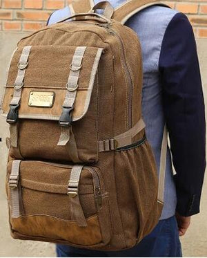 50L large capacity canvas backpack men travel bags tourism backpack. CHOICES