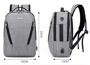 Anti-theft USB charging laptop backpack for Women Men Backpack school. 4 colors