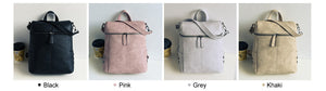 Simple Style Backpack Women PU Leather Backpacks For Teenage Girl School Bag Fas