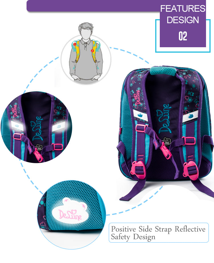 Girls Boys Primary School backpack 3-5 Grade Schoolbag Children Orthopedic