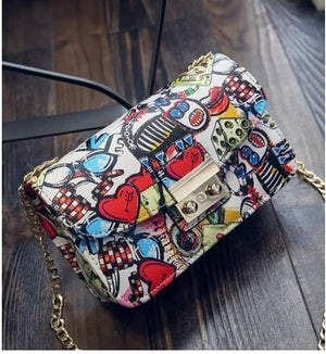 Women's Graffiti Ladies designer handbag mini bag women messenger bags for women