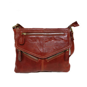 MJ Brand Design Soft Genuine Leather Women's Messenger Bag Real Leather
