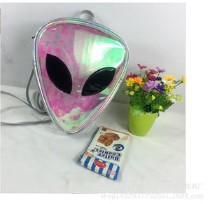 Hologram Alien Backpack Bag for Boys Girls Transparent Laser PVC Alien Backpacks