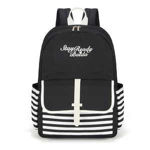 Fashion School Backpack Bag for Teenage Girls Canvas Women Laptop Back Pack