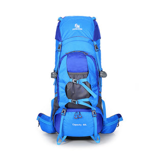 80L Camping Hiking Backpacks Big Outdoor Bag Backpack Nylon Sport Travel Bag Alu