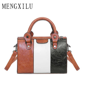 Oil Wax Women Handbags High Quality PU Leather Hot Colors - Popular!