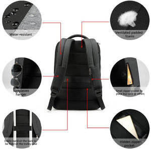 Men's 15.6 laptop backpack usb charging waterproof anti-theft school