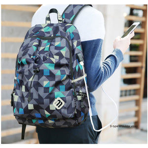 School Backpack Student College Water Repellent Nylon Backpack Men Material Esco