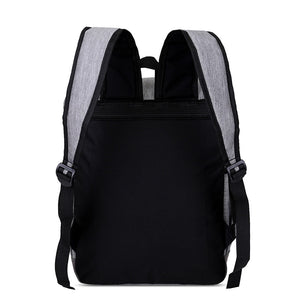 USB Charging Backpack Men Laptop Backpacks For Teenagers Waterproof  Large Schoo