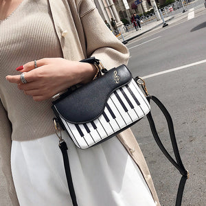 Ladies Piano keys PU Leather Handbag Small Shoulder Bag Female