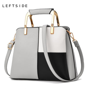LEFTSIDE Women PU Leather Handbag 2018 Designer Small Hand Bag Female. 4 Colors