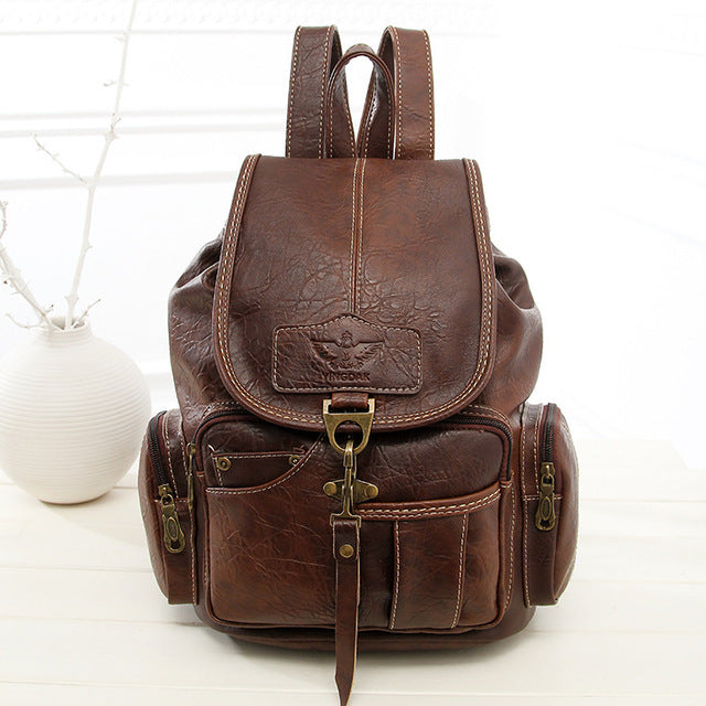 8ba1b4caac3a Vintage Women s Teenage Girls Backpack Bag for High Quality PU Leather 3  Colors