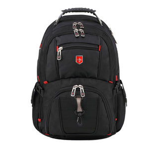 Men's Backpack 15.6 17 inch Computer Notebook School Travel Bags Unisex La