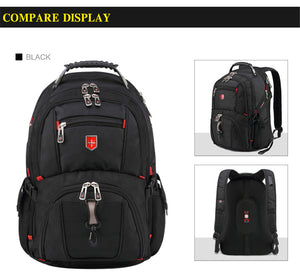 Swiss Men's Backpack 15.6 17 inch Computer Notebook School Travel Bags Unisex La