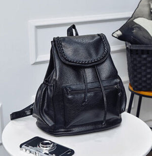 Women's Stacy bag lady  PU leather backpack travel bag