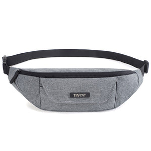 Men's Women Canvas Waist Pack Bag Casual Travel Phone Belt Bag. 2 Colors
