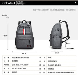 Anti Theft Double Shoulder Travel Security Waterproof School Bag