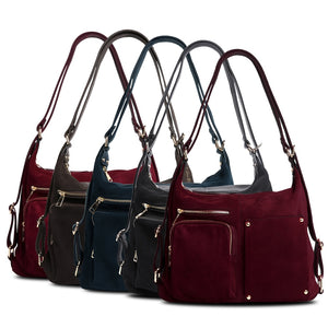 Nico Louise Women Real Split Suede Leather Shoulder Bag Female COLORS