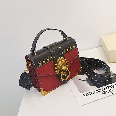 Lion Women's Shoulder Bag Handbag PU Leather Messenger Crossbody Bag