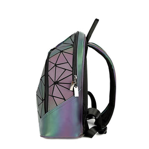 Womens Backpack Geometric Luminous Backpack For Teenage Girls