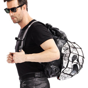 Duhan Black Motorcycle Bag Bagger Water Resistant Backpack Touring Luggage