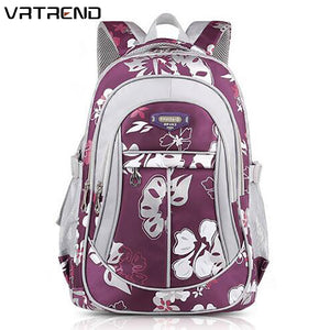 VRTREND Junior High School Flower Backpack For Girls Primary Kids Bag. 5 Colors