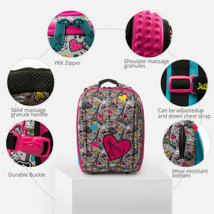 Delune New Children School Backpack For Girls Boys School Bag Butterfly Pattern